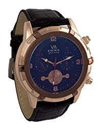 Addic EWWE Dark Blue Dial And Light Gold Dial With Black Leather Strap Watch For Men (1)