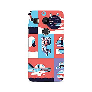 Ebby Abstract Travel Premium Printed Case For LG Nexus 5X