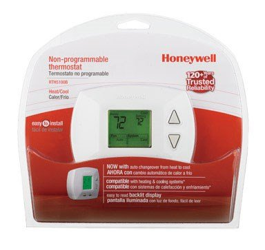 Honeywell Manual Thermometer Digital Heat Only Heat Cool