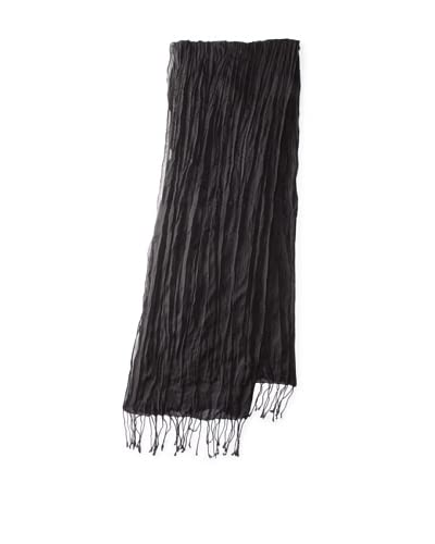 John Varvatos Collection Men's Hand-Knotted Scarf  [Black]