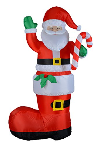 Bzb goods foot tall lighted christmas inflatable santa