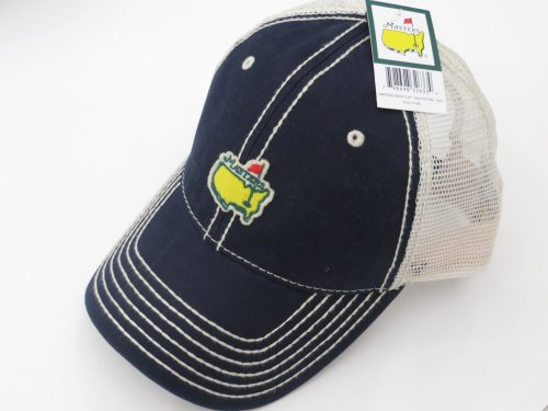 MASTERS Golf Tournament NAVY Mesh Large/XL FITTED HAT Trucker Style 2016 Masters New! (Masters Trucker Hat compare prices)
