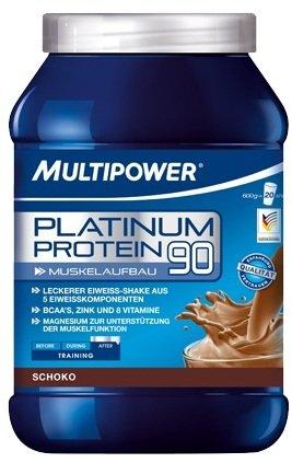 Multipower Platinum Protein 2 x 600g Dose 2er Pack Schoko