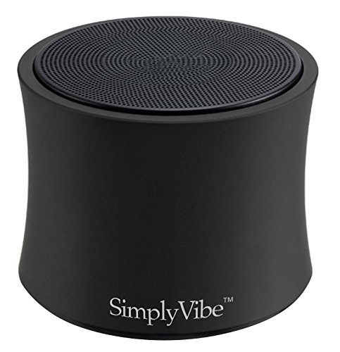 (New Arrival 2014) Simplyvibe V3-X5Pb Bluetooth Mini Ultra Portable Speaker In Black Abs Housing With Rechargeable Li Battery (Works W/ Ipod, Ipad, Iphone, Android Devices) - Best Sounding Mini Speaker In The Market!