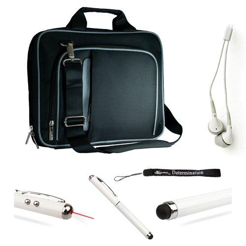Mobile Carry On Active Travelling Style Bag With Adjustable Shoulder Strap // For Motorola 10.1-Inch Tablet + Hd Earbuds (3.5Mm Jack) + Stylus Pen