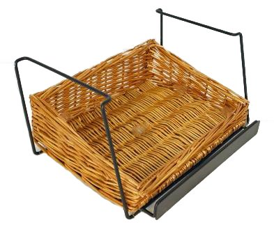 3-Tier 3 Rectangular Willow Basket Counter Display Rack