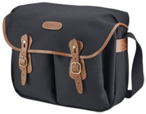 Best Billingham Hadley Large, SLR Camera System Shoulder Bag, Black Canvas with Tan Leather Trim and Brass Fittings website