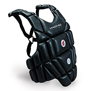 Macho Sports / Martial Arts Chest Protector - Black - X-Small