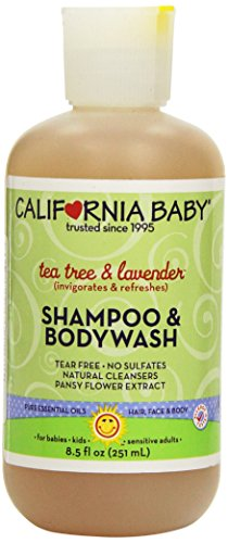 California Baby Shampoo & Body Wash - Tea Tree & Lavender, 8.5 oz