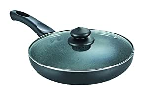 Prestige Omega Deluxe Granite Fry Pan with Lid, 260mm