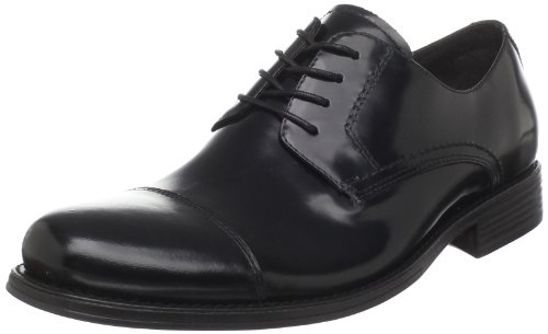 Johnston & Murphy Men's Atchison Cap-Toe Oxford,Black Brushed Calf,11 M US