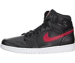 Nike Jordan Men\'s Air Jordan Retro High Black/Gym Red/Black/White Basketball Shoe 11.5 Men US