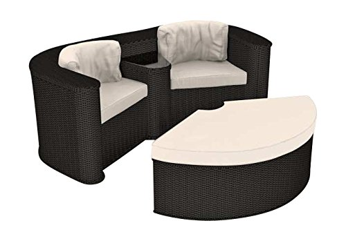 artelia loungeinsel melodia schwarz online kaufen. Black Bedroom Furniture Sets. Home Design Ideas