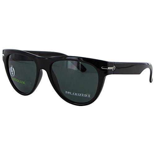 Electric Visual Women'S Arcolux Polarized Round Sunglasses,Gloss Black Frame/Grey Pc Polar Lens,One Size