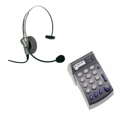 Monaural Headset With Dial Pad Pd100