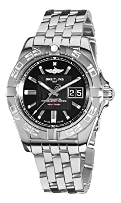 Breitling Men's A49350L2/BA07 Galactic 41 Black Dial Watch from BRIT ARCH OF COUNTRY