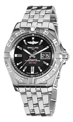 Breitling Men's A49350L2/BA07 Galactic 41 Black Dial Watch