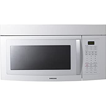 Samsung SMH1713 1.7 Cubic Foot Over the Range Microwave with 1580 Watts and Electronic Touch Con, White
