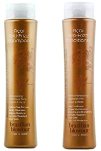Brazilian Blowout Anti-Frizz Shampoo & Conditioner 12-ounce bottles