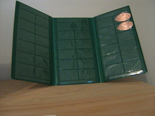 Green Souvenir Penny Collecting Book for Elongated Pennies (Disney Pressed Penny Book compare prices)