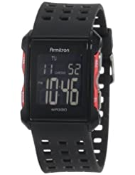 Armitron 408177RED Chronograph Black Digital