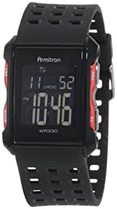 Armitron Men's 408177RED Chronograph Black and Red Digital Sport Watch