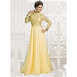 Bhavya Enterprise Pritty Cream Net Gown