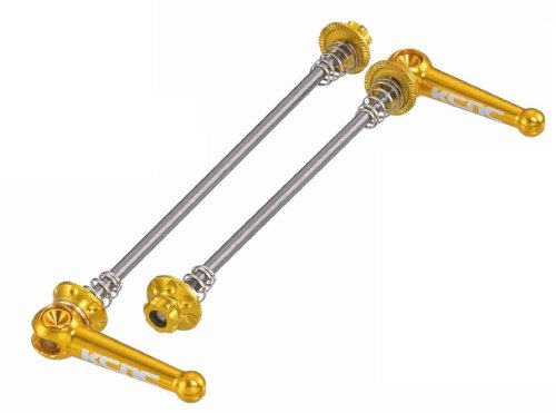 KCNC Quick Release Skewers Titanium Road Bike F 100 R 130 mm Gold 42g