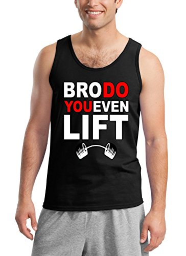 Bro Do You Even Lift Funny Gym Tank Top Large Black (Do You Even Lift Tank Top compare prices)