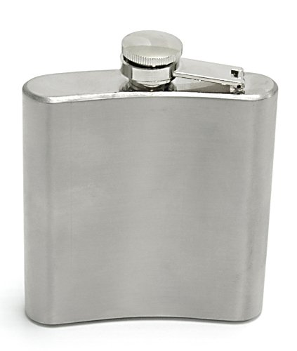 Personalised 6oz Hip Flask YOUR MESSAGE ENGRAVED FREE, Birthday, Wedding, Anniversary Gift