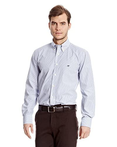 Sacoor Brothers Camisa Hombre Grebes Azul