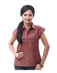 ENAH Opulent Linen Shirt - B00NPYVQRO