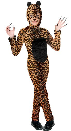 Girl's Cheetah Cat Kids Costume