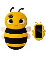 Demarkt Coque Cover Abeille conception silicone Etui Housse d'Abeille Preotection Case pour iphone 4 jaune