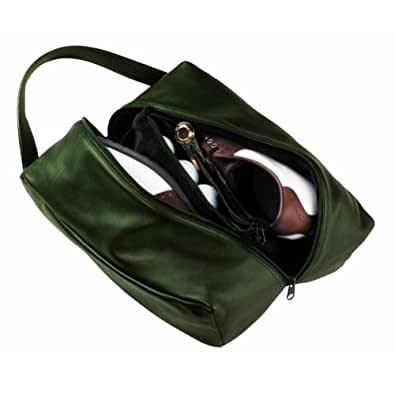 Royce Leather Suede Lined Deluxe Shoe Bag (660-GREEN-5)