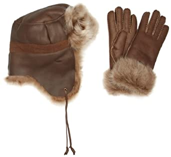Emu Australia Bemboka Gift Set Women's Hat Toffee Medium/Large