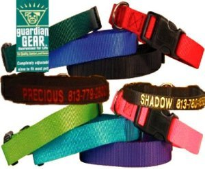 Custom Personalized Embroidered Dog Collars (Guard