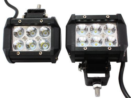 4 X 18W 1260Lm Cree Spot Led Work Light Bar Off-Road Suv Boat 4X4 Jeep Lamp 4Wd