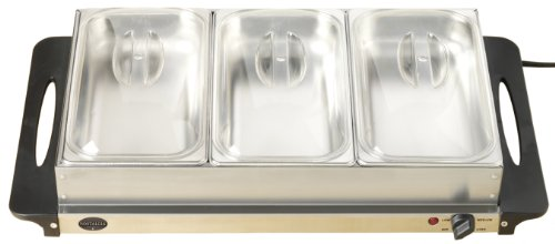 Nostalgia Electrics Bcd992 3-Station Buffet Server With Warming Tray