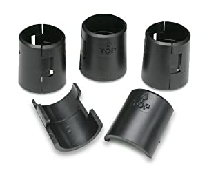Honey-Can-Do SHF-01133 Black Urban Adjustable Replacement Shelf Clips (4 pair of clips, 8-total)