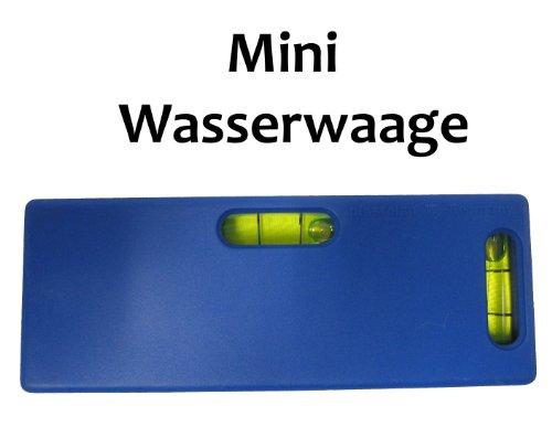 MINI Wasserwaage mit 2 Libellen LEVEL Livello Taschenwasserwaage WAAGE