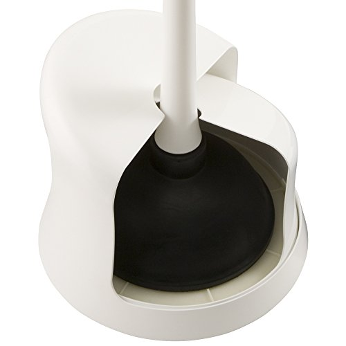 plumbcraft twist and store toilet plunger with storage caddy maximum power ebay. Black Bedroom Furniture Sets. Home Design Ideas