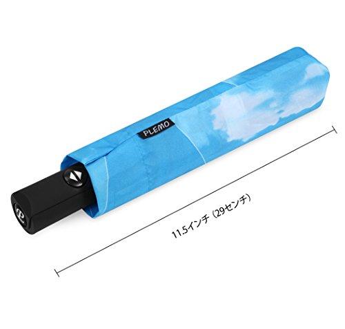 Plemo Regenschirm, Sonniger Himmel Automatik Taschenschirm (94 cm Durchmesser) -