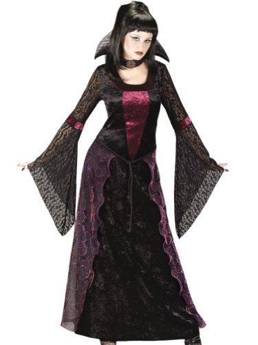 Plus Size Gothic Vamptessa Vampire Theatre Costumes Vampiress Long Black Gown
