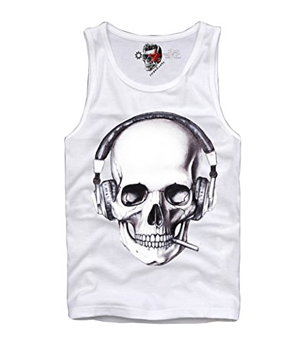 E1SYNDICATE TANK SHIRT SKULL LONDON BOY HYPE ELEVEN SUPREME PYREX TRILL T S-XL