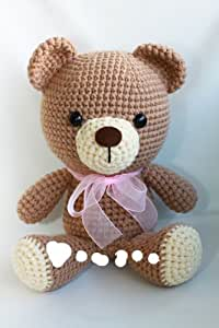 Tomaru IGN knit teddy bear bow tie is hand made 9.5 inch height. . Gift for Love