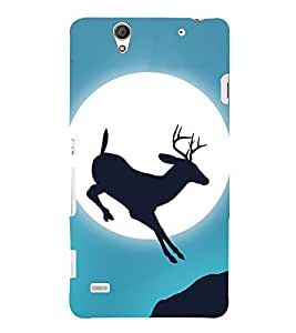 Deer Design 3D Hard Polycarbonate Designer Back Case Cover for Sony Xperia C4 Dual E5333 E5343 E5363 :: Sony Xperia C4 E5303 E5306 E5353