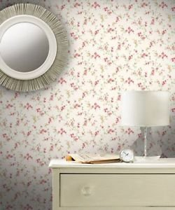 Coloroll Cosy Posy Wallpaper - Caramel Red by New A-Brend