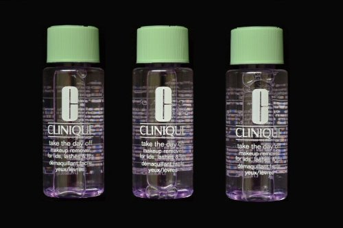 Lot of 3 Travel Size Clinique Take The Day Off Makeup Remover for Lids, Lashes and Lips Total 5.1 oz / 150 ml *Brand New*