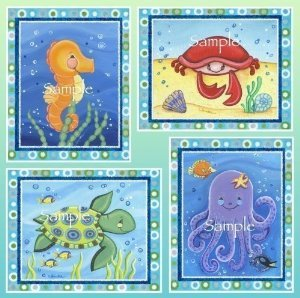Sea Baby Bedding 8765 front